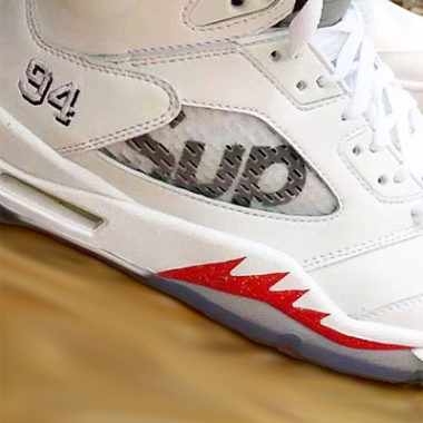 air jordan 5 supreme white metallic