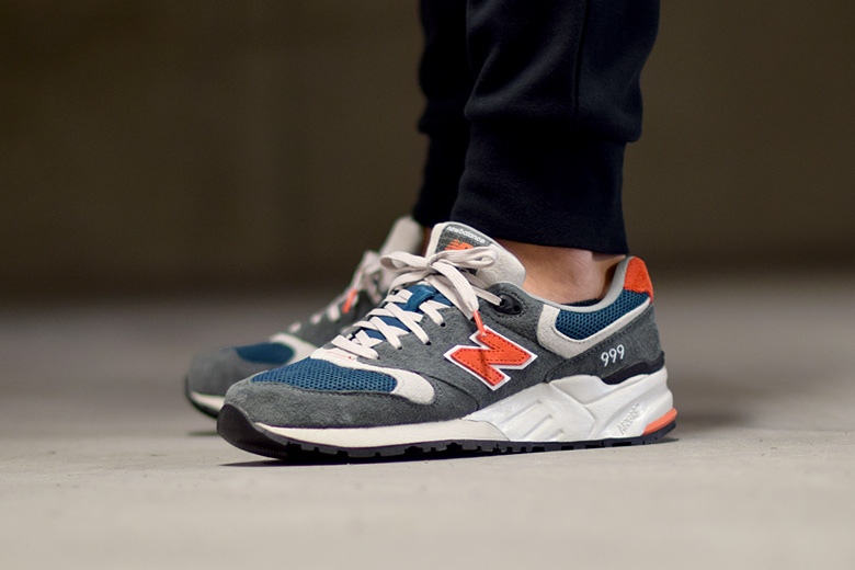 size 40 9bc6b 22ab9 New Balance 999 AD - Grey/Blue/Orange - Sneakers.fr