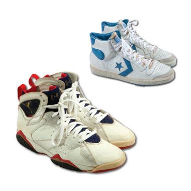 Des sneakers portées par Michael Jordan aux enchères