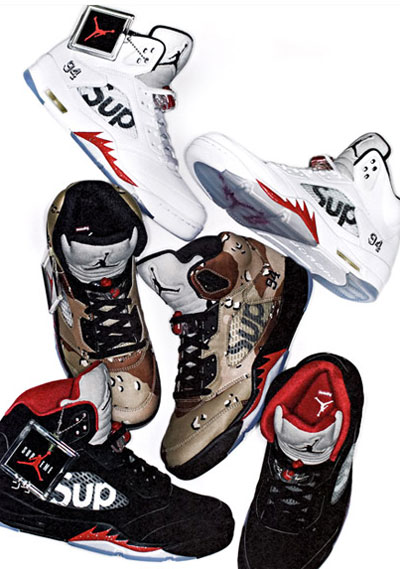 air jordan 5 supreme sneakers