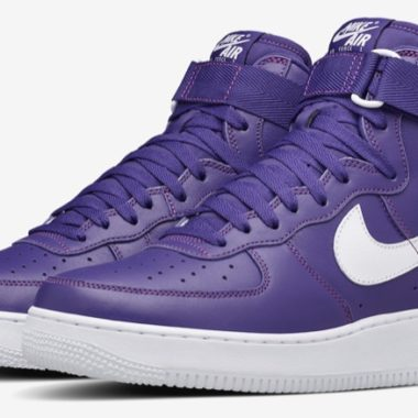 nike air force 1 high purple leather