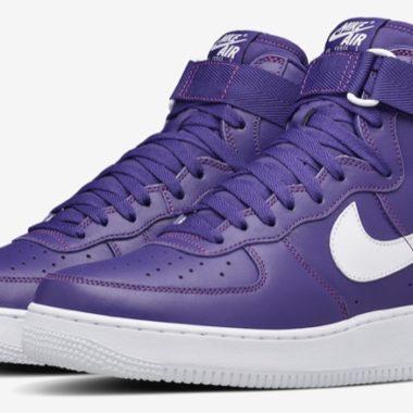 nike air force 1 high purple leather