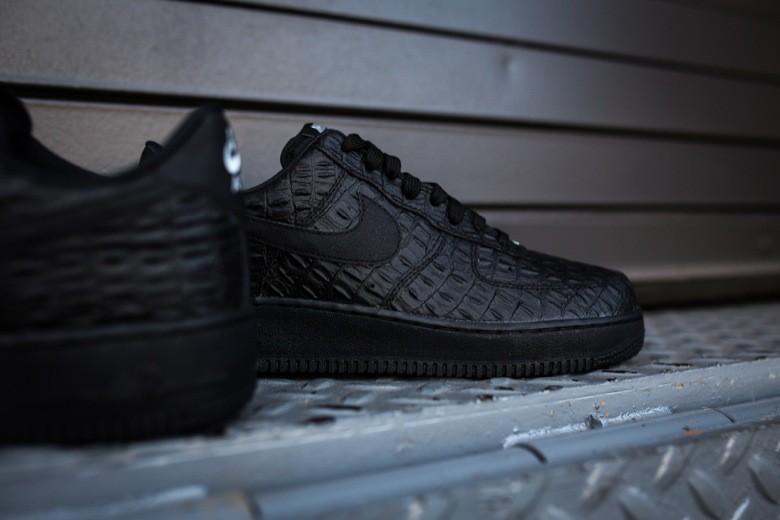 nike air force 1 black croc skin-1