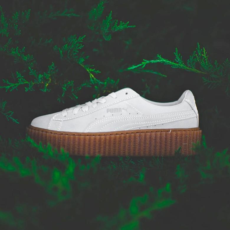 puma creepers semelle blanche