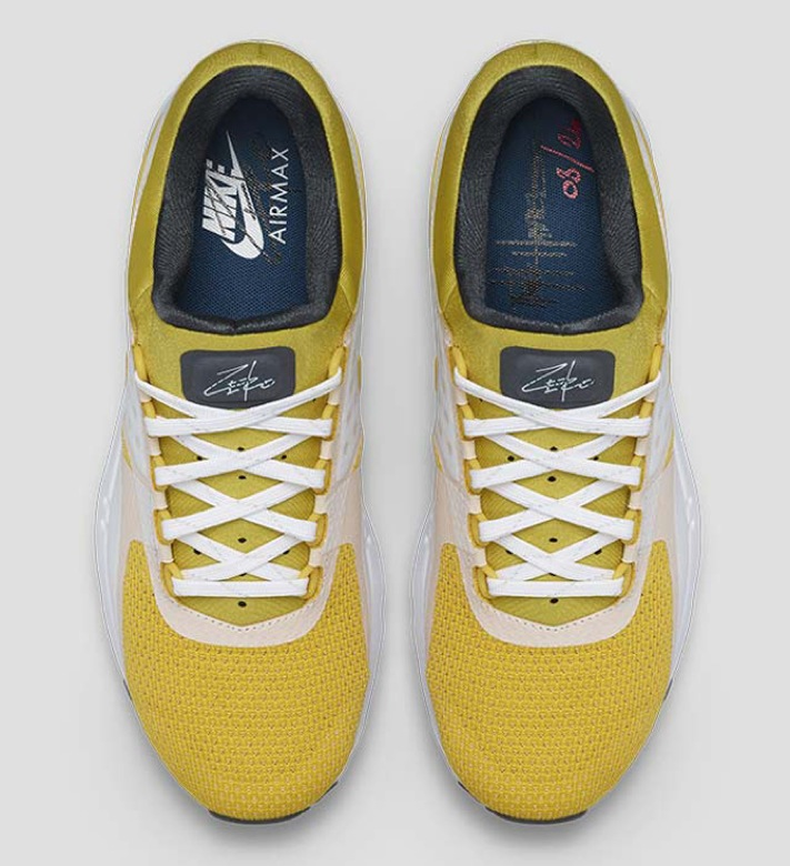 nike air max zero white yellow QS-3