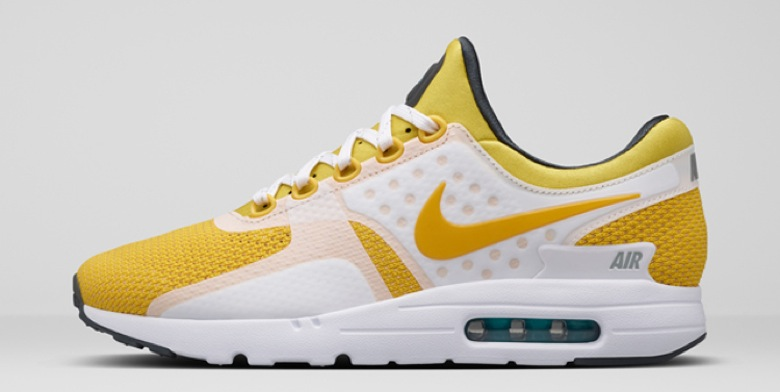 nike air max zero white yellow QS-4