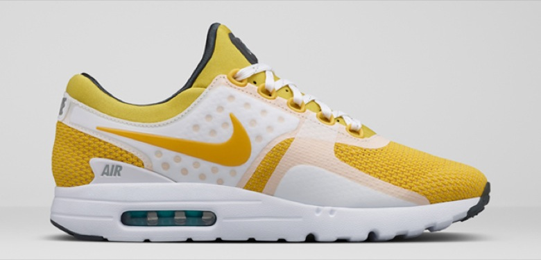 nike air max zero white yellow qs