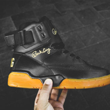 ewing 33 hi gum black/gold