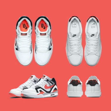 nike air tech challenge II all court hot lava sneakers