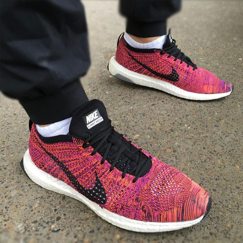 nike flyknit racer x adidas ultra boost sneakers. Black Bedroom Furniture Sets. Home Design Ideas
