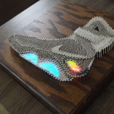 sneakers string art