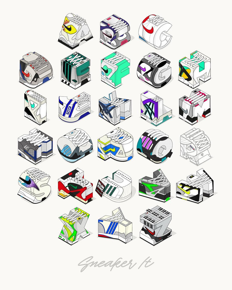 alphabet sneakers