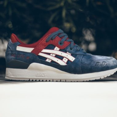 asics gel lyte III indian ink slight white