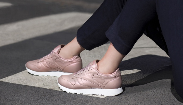 reebok classic leather pearlized blanche