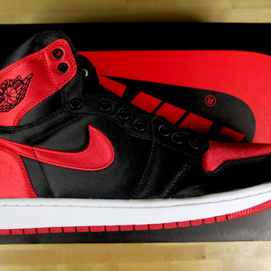 air jordan 1 bred banned satin
