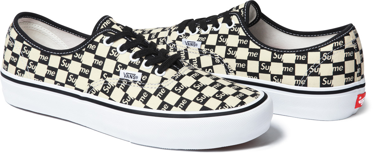 Supreme X Vans - Checkers Collection - Sneakers Fr