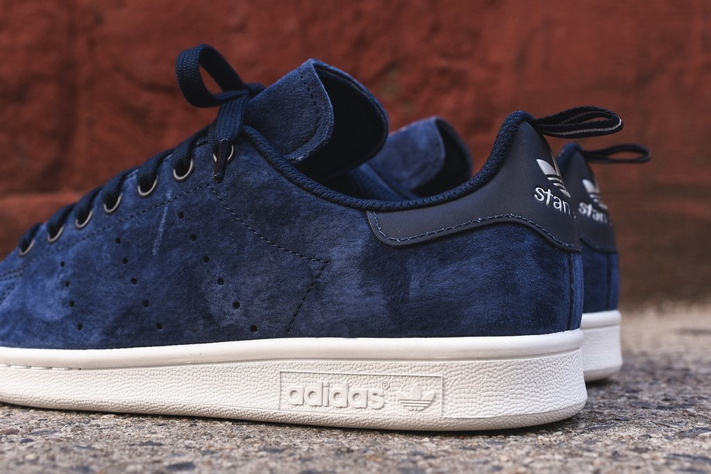 adidas stan smith suede bleu