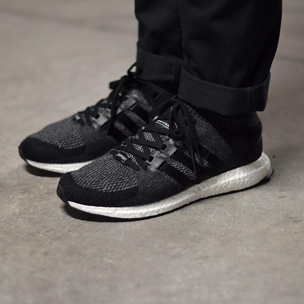 ab8a434da49a4 adidas EQT Support Ultra Primeknit Black - Sneakers.fr