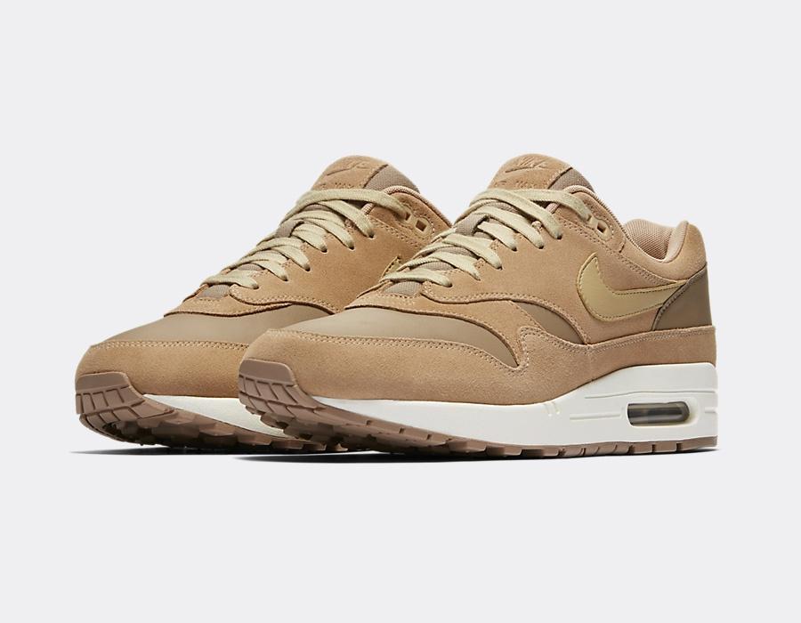 Nike Air Max 1 Premium Leather Tan Suede