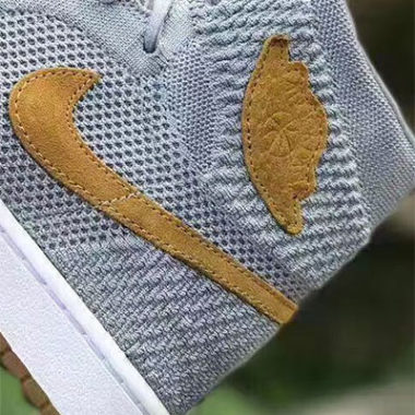 air jordan I flyknit grey tan