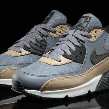 Nike Air Max 90 Premium Cool Grey Mushroom Wolf Grey Deep