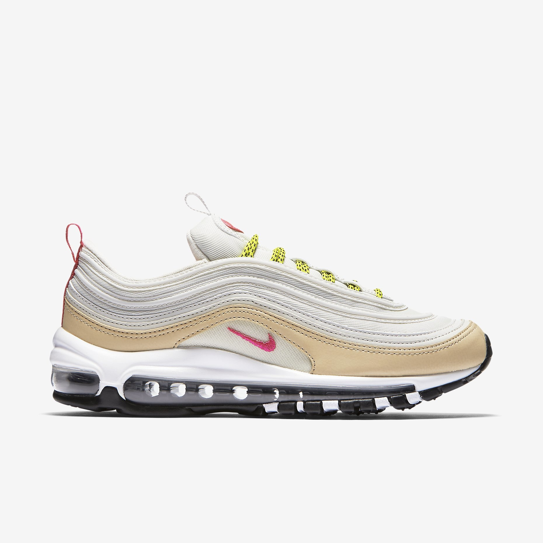 nike w air max 97 light bone deadly pink sneakers. Black Bedroom Furniture Sets. Home Design Ideas