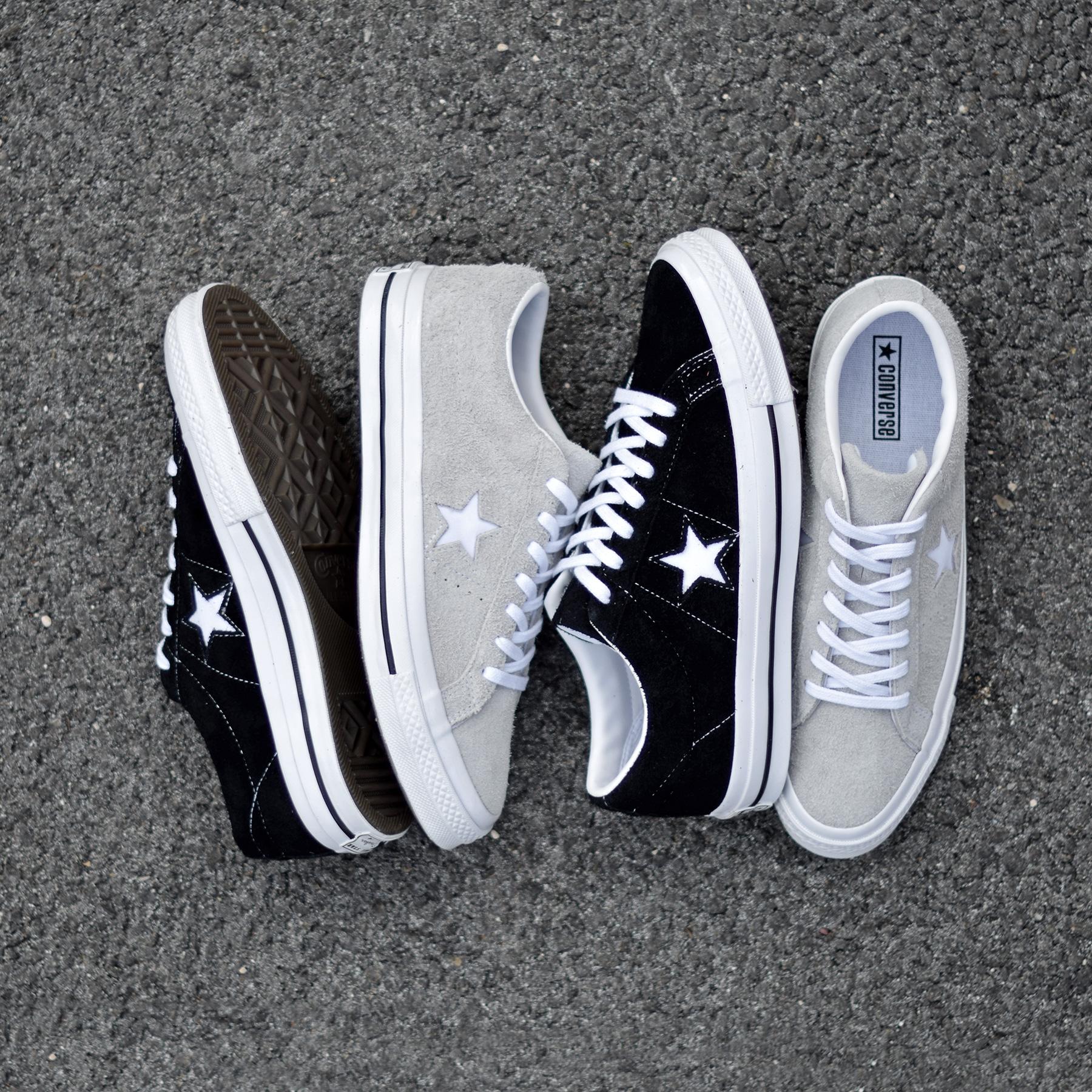 converse one star suede noir