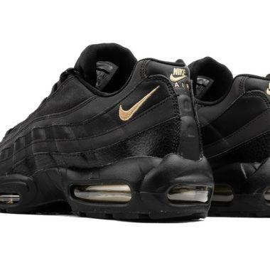 Nike Air Max 95 Premium Triple Black Pony Hair Sneaker Bar