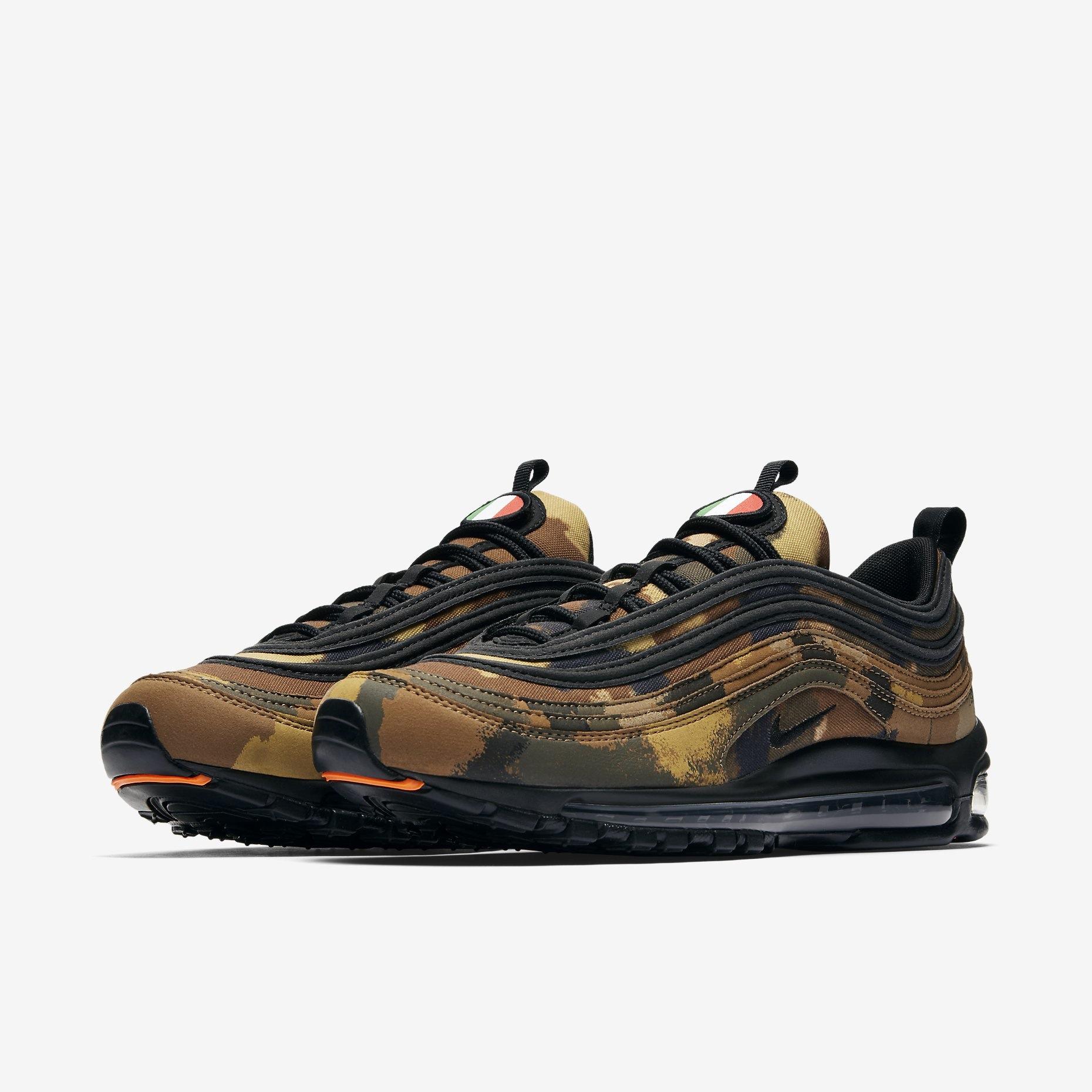 3be19347 Nike Air Max 97 Camo Germany. Coloris : Bamboo/Black-Dark Khaki-Sequoia SKU  Style Code : AJ2614-204. Date de sortie : décembre 2017. Prix : 180€