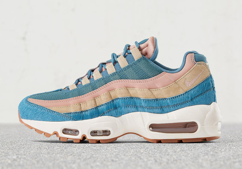 reputable site 9f36d 43314 Nike W Air Max 95   90 LX Pony Hair « Smokey Blue »