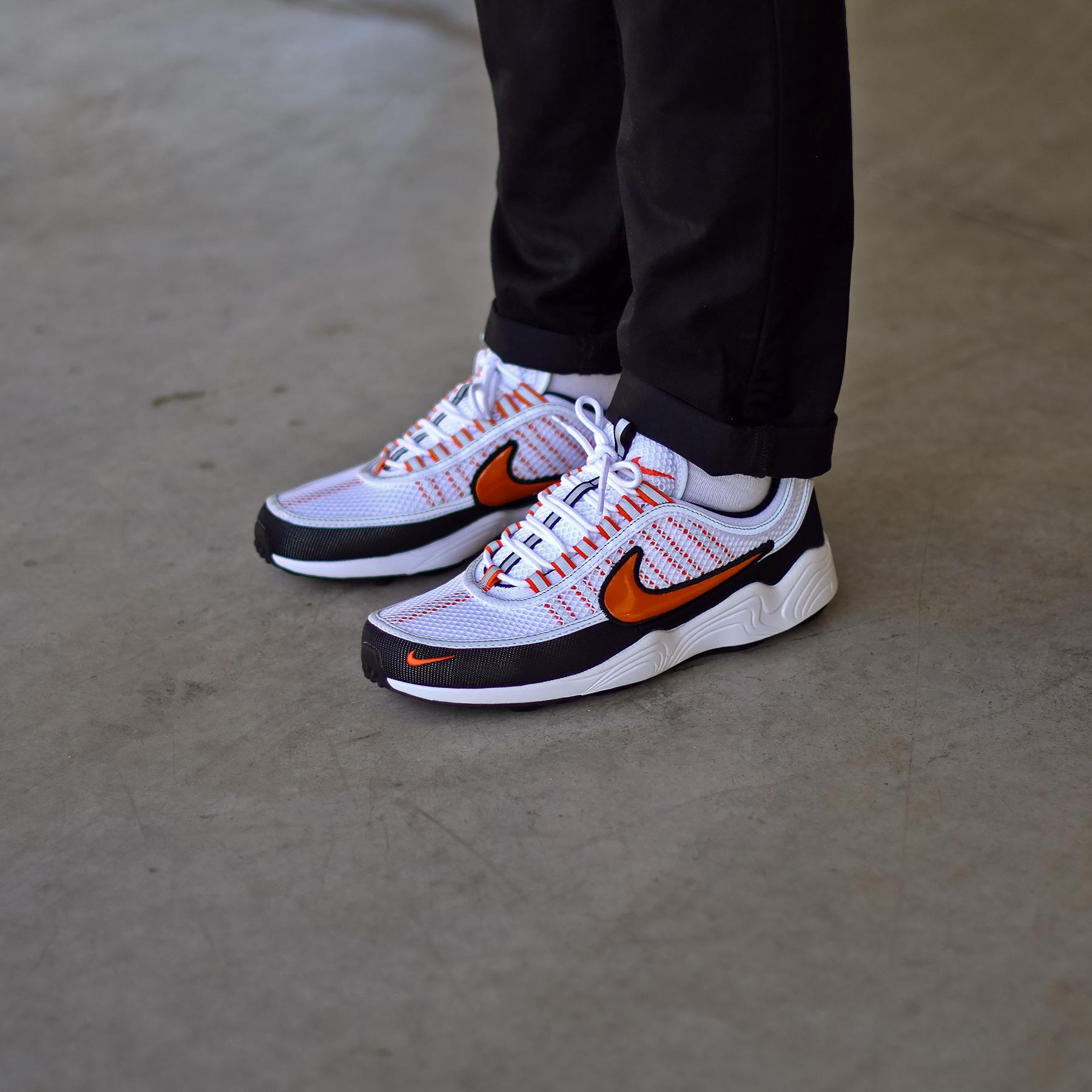 Nike Air Zoom Spiridon White/Team Orange - Sneakers.fr