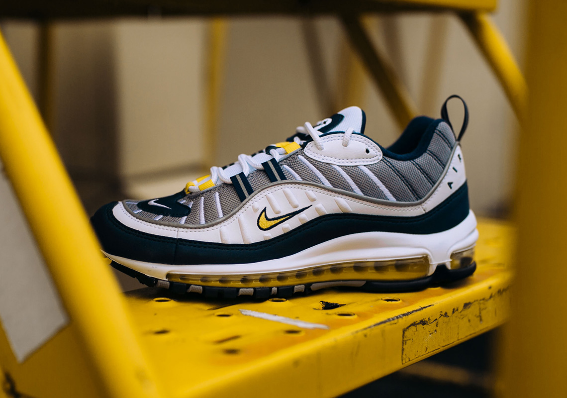 nike air max 98 tour yellow sneakers. Black Bedroom Furniture Sets. Home Design Ideas