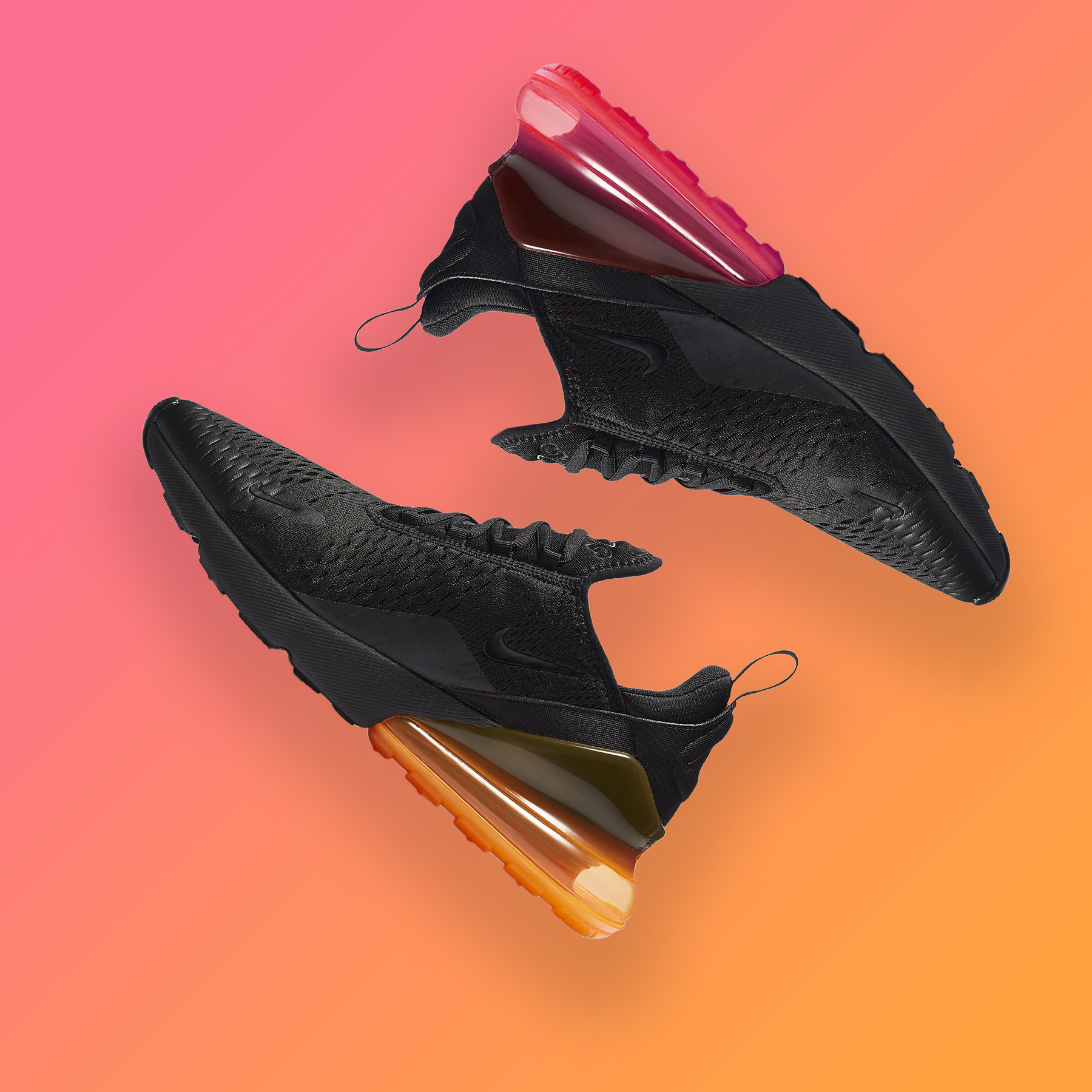 air max 270 noir bulle orange