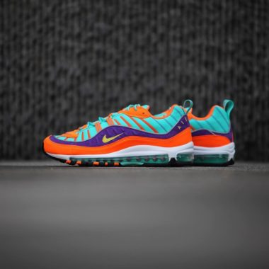 best service 1a0e9 e630d Nike Air Max 98 QS Cone Tour Yellow Grape