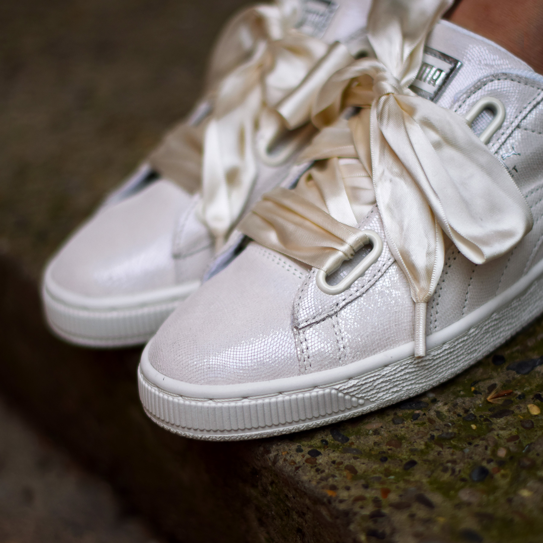 timeless design de11b 335d7 Puma Basket Heart Night Sky White - Sneakers.fr