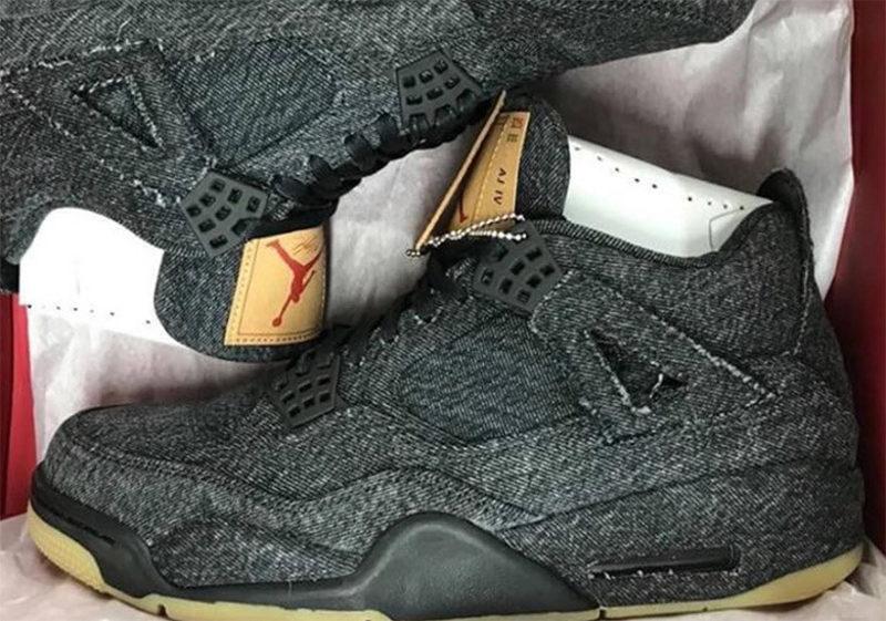 low priced 7e3ac 71c3d Levi s x Air Jordan 4 « Black »