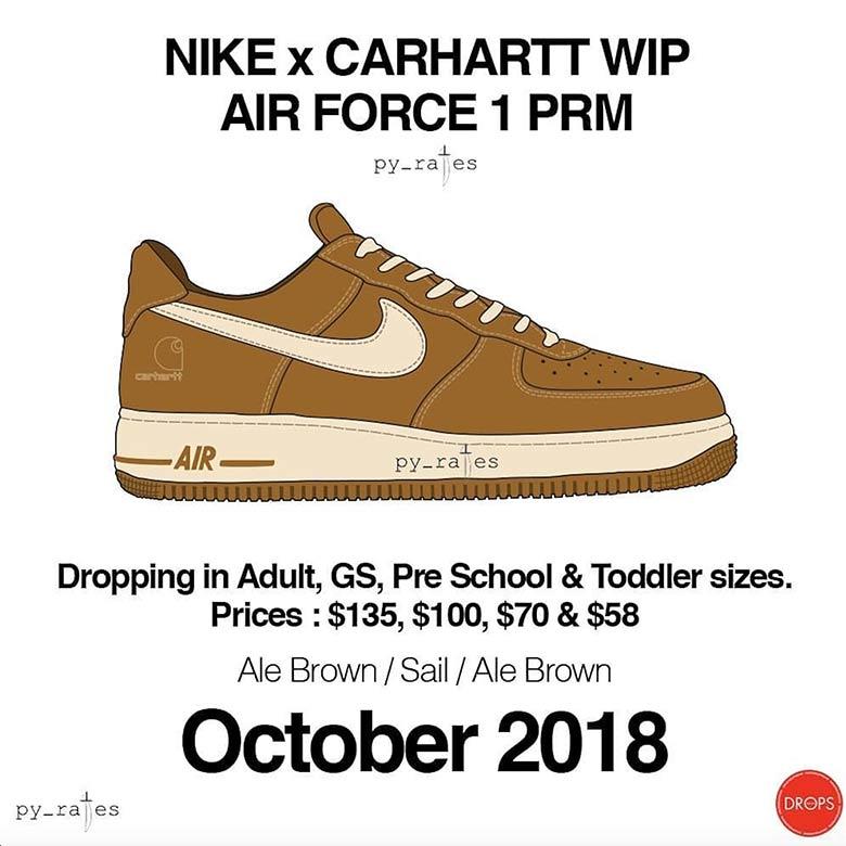 X Low Nike Wip Force Carhartt Air 1 rhtsQd