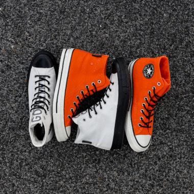 converse orange fluo
