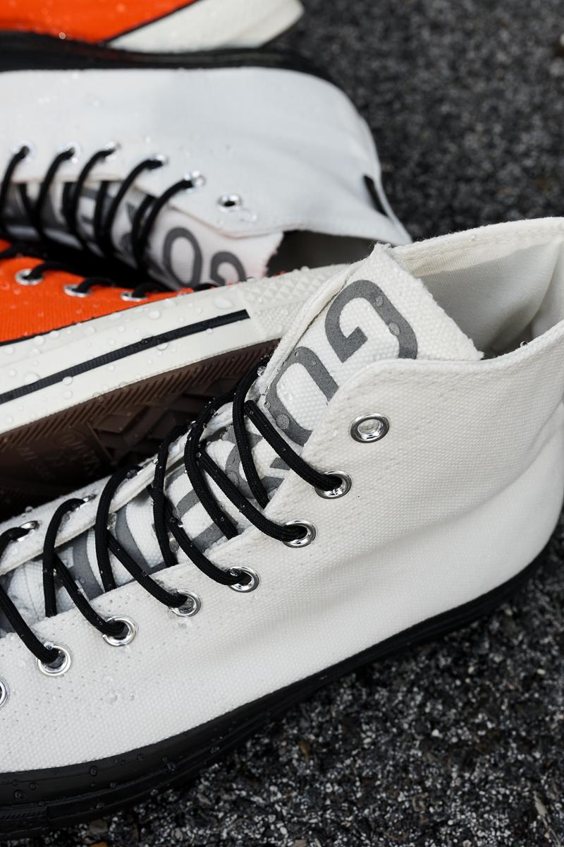 converse blanche orange