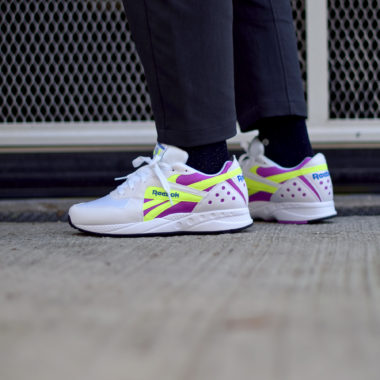 Reebok Pyro White Violet Neon
