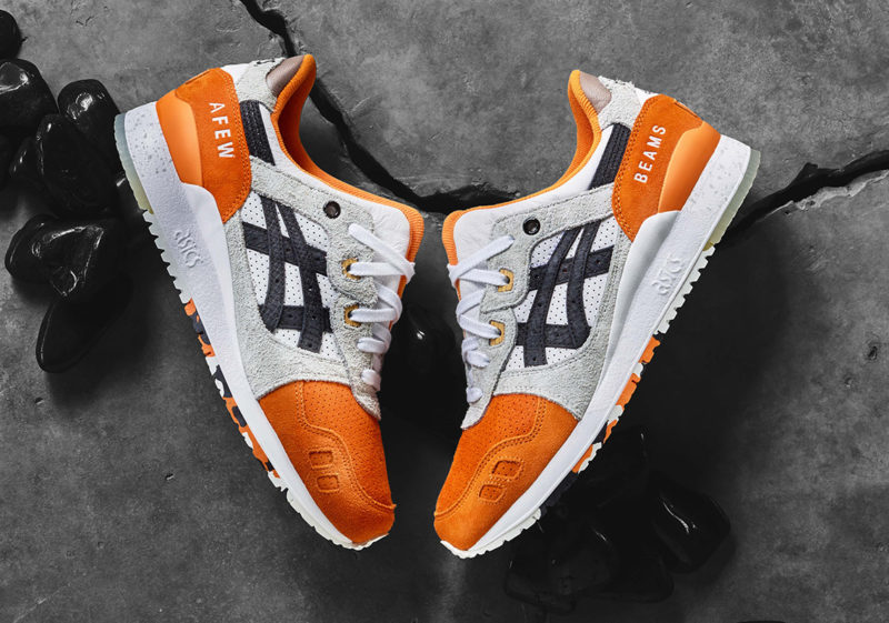 Afew x Beams x Asics Gel Lyte 3 Orange Koi