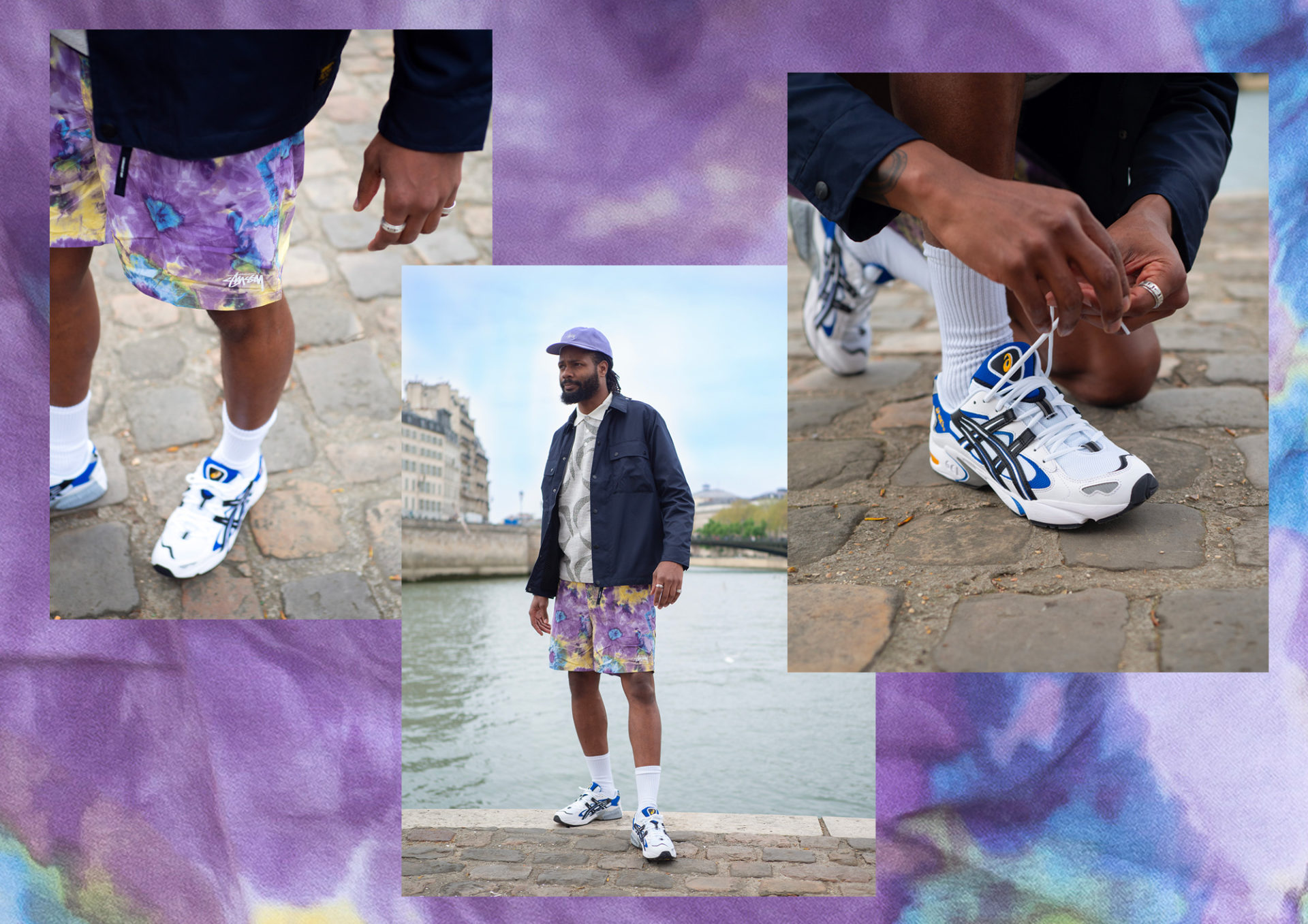 Lookbook tenue Asics Stussy