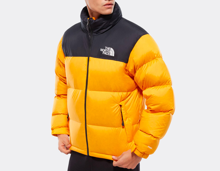 The North Face Nuptse Orange