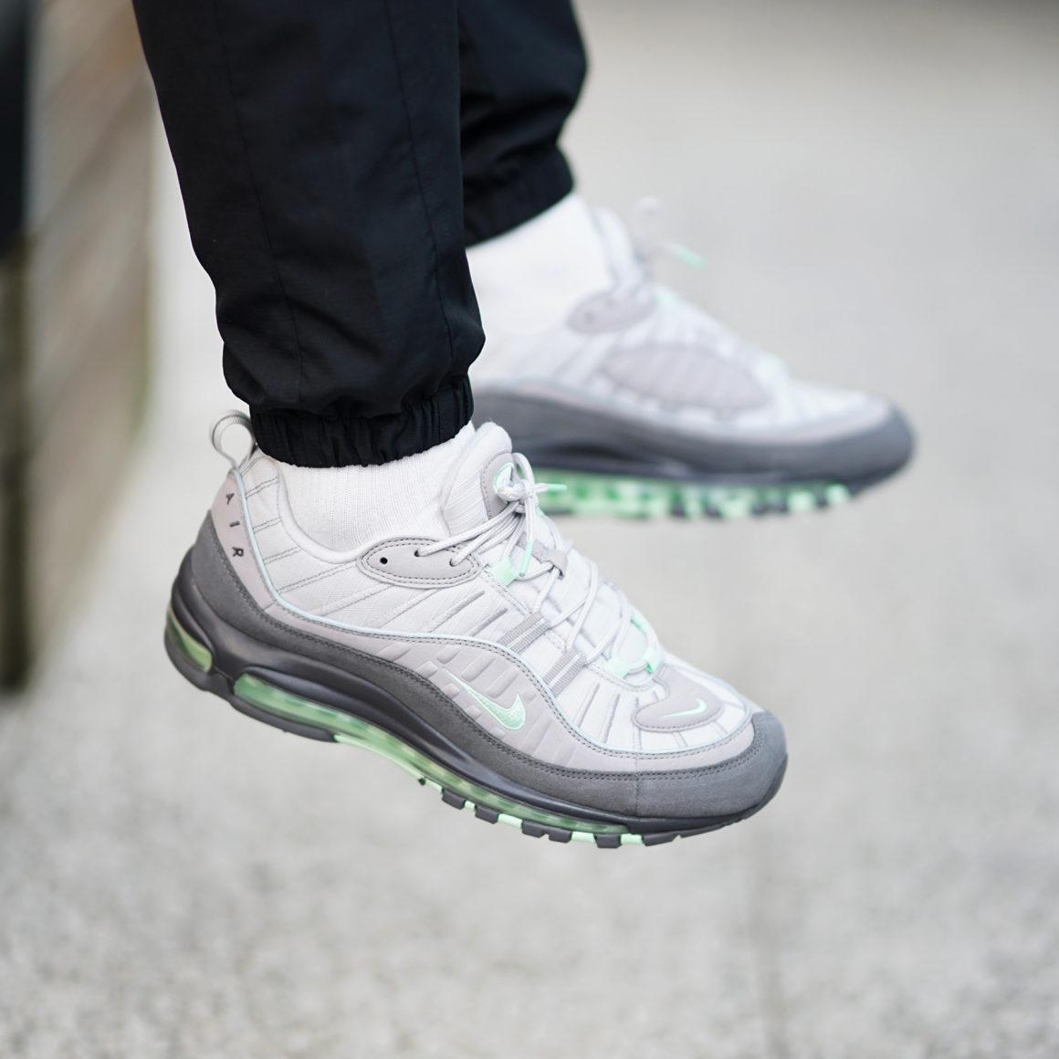 air max 98 vert gris