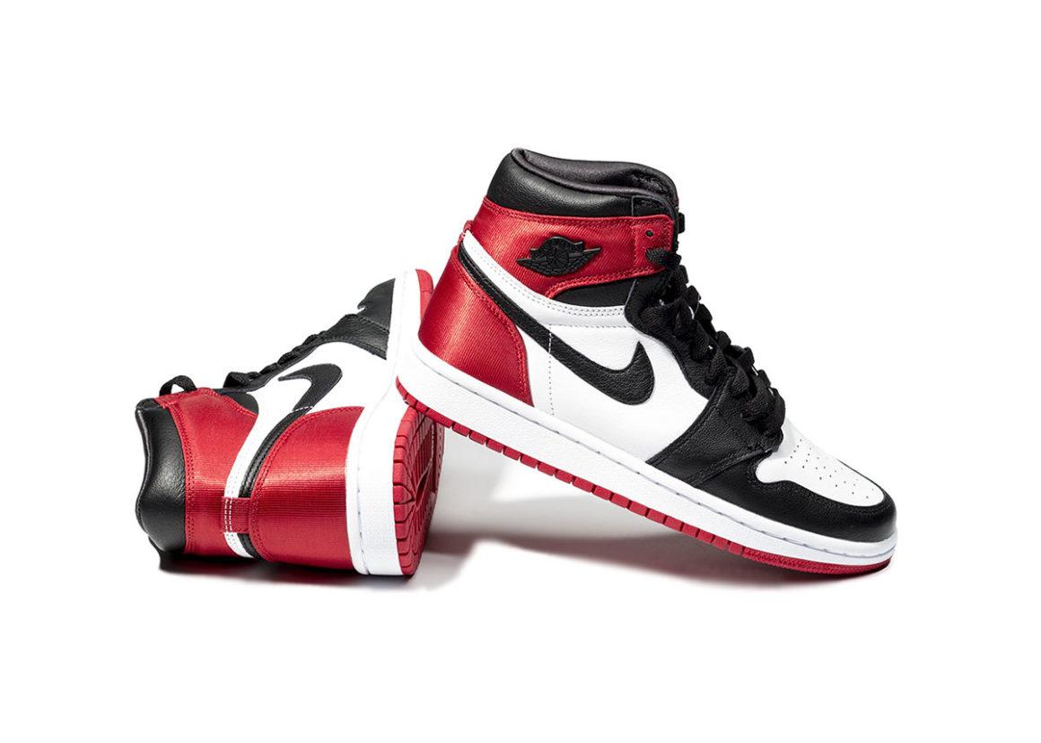 Toe Air Satin 1 Black Jordan Wmns rEdBoeQCWx