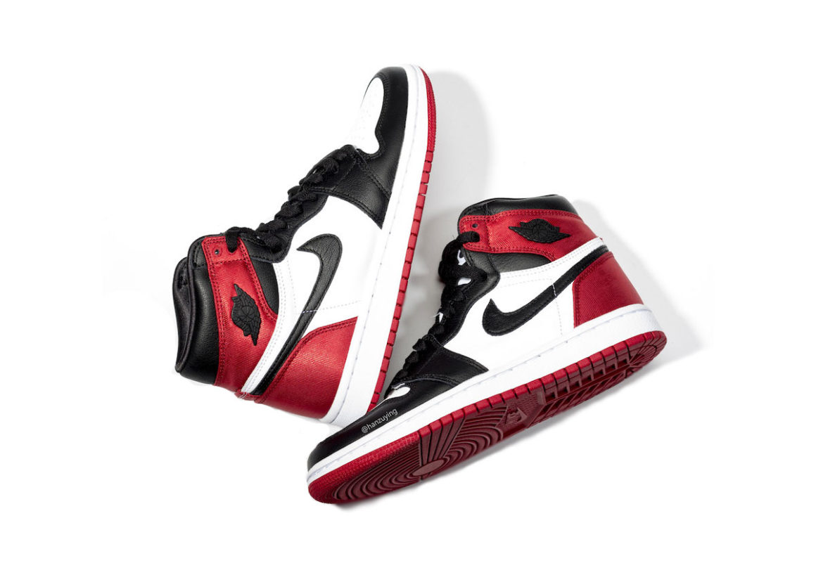 air jordan 1 rouge et noir brillant