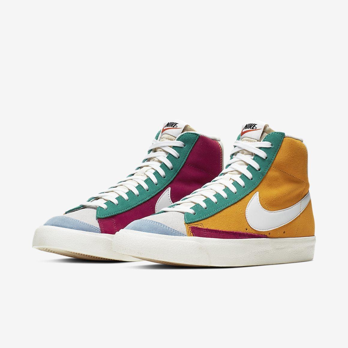Nike Blazer Mid 77 Vintage Suede Multicolor - Sneakers.fr