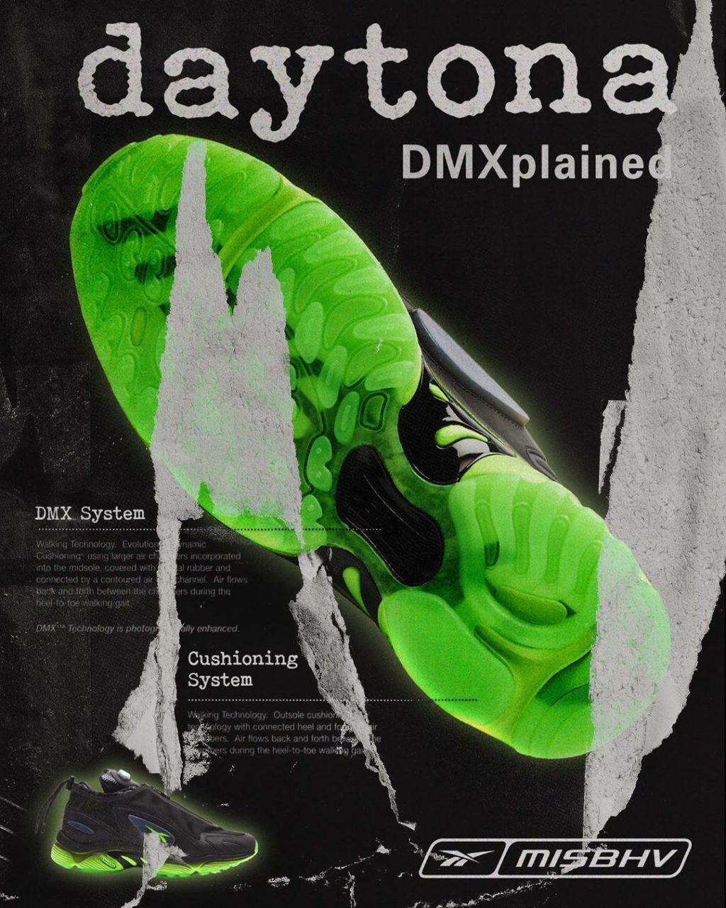 MISBHV x Reebok Daytona DMX Black/Solar Green