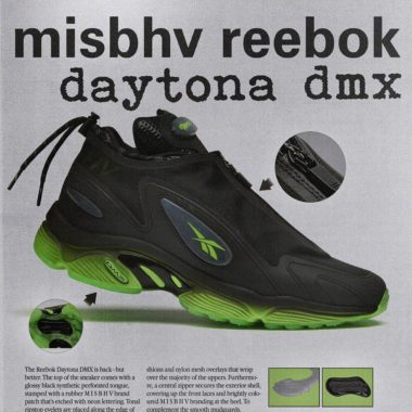 Reebok MISBHV Daytona DMX Black/Solar Green