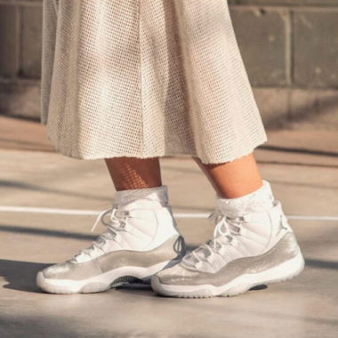 Jordan W Air Jordan 11 Retro WhiteMetallic Silver